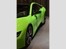 Ever Seen a Lime Green BMW i8 Before? Carscoops