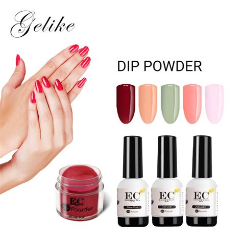 gelike gpcs nail glitter set dipping powder nails