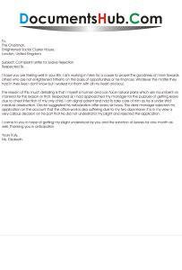complaint letter  leave rejection  chairman