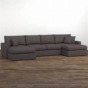 fabric sectionals With sectional sofas no chaise
