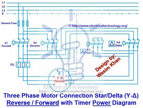 phase motor connection stardelta   reverse