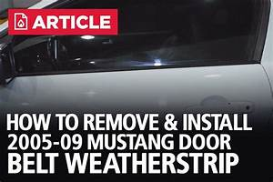 How To Remove  U0026 Install Door Belt Weatherstrip
