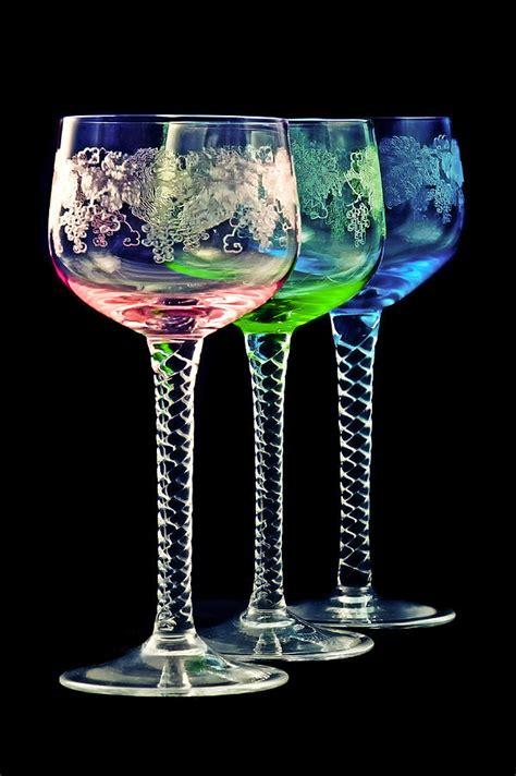 colorful wine glasses colorful wine glasses by gert lavsen