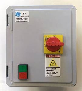 Enclosed Motor Starter Control Panel With Start Stop 3
