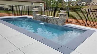 Pool Juan San Pools Fiberglass Biloxi Bench