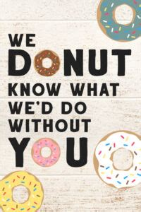 printable donut teacher appreciation gift ideas