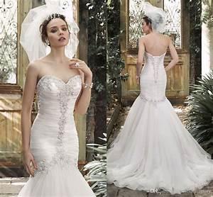Fairy Sexy 2016 Crystals Mermaid Wedding Dresses ...