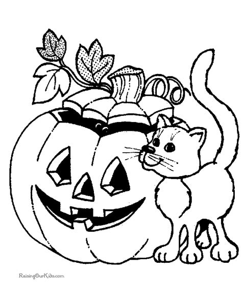Scary Halloween Witch Coloring Pages by Cat Halloween Coloring Pages 021