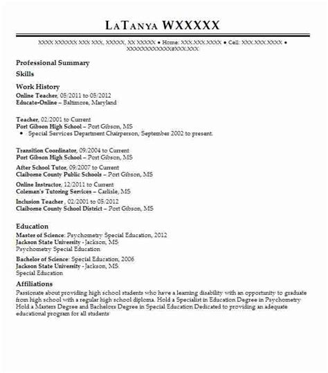 teacher resume sample teacher resumes livecareer