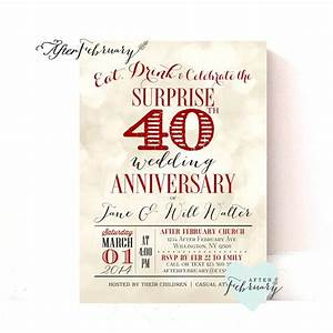Anniversary invitation font image collections invitation for Cheap 40th wedding anniversary invitations