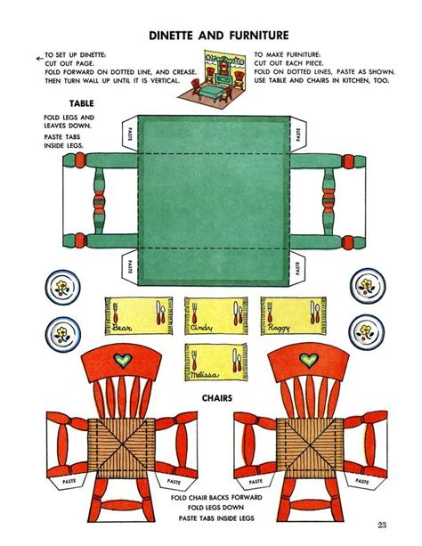 dollhouse miniature template printable dollhouse furniture templates invitation