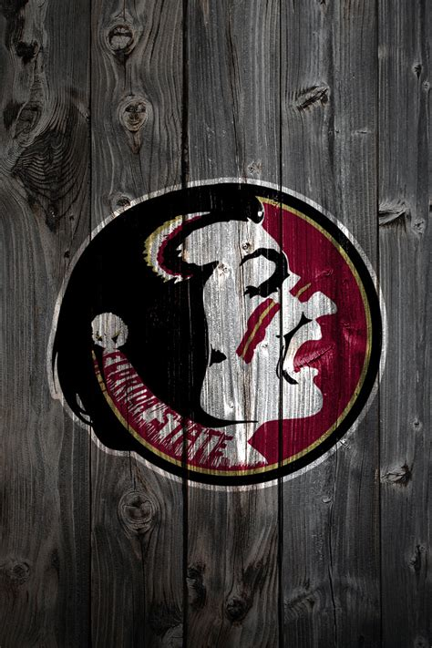 Florida State Seminoles Wood iPhone 4 Background