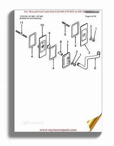 Cub Cadet Parts Manual For Model 1440 Sn 821060 880000