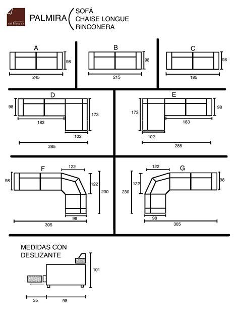 sofa 3 plazas chaise longue medidas chaise longue rinconera palmira muebles mi hogar