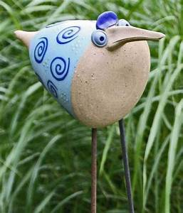 Keramik Für Den Garten : keramik vogel f r den garten frech und lustig von starke keramik auf t pferei ~ Bigdaddyawards.com Haus und Dekorationen
