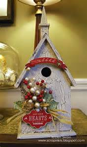 pursuit of craftyness christmas birdhouse decor