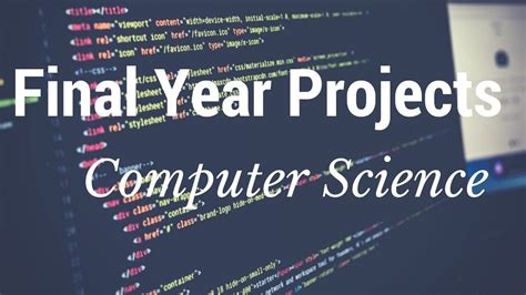 computer science year projects