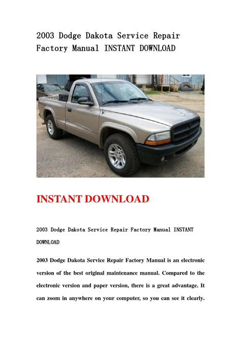 2003 dodge dakota service repair manual download download manu 2003 dodge dakota service repair factory manual instant download by kmsjenmnmef mksjefn issuu