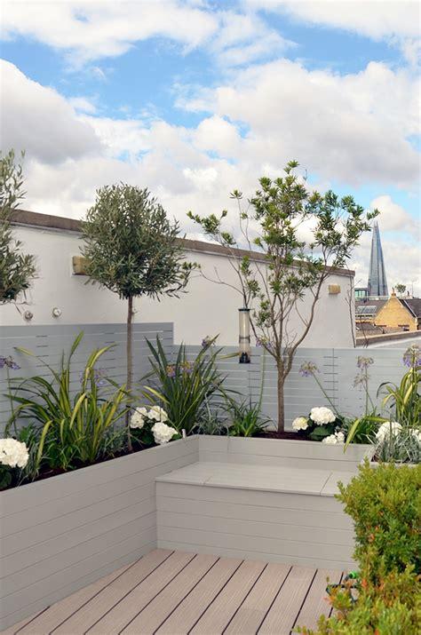 modern roof garden tower bridge modern garden design roof penthouse terrace docklands london london garden blog