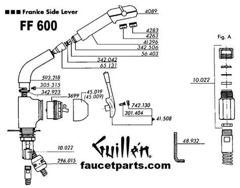 Franke Faucet Repair by Franke Kitchen Faucet Repair Parts Wow