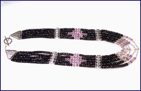cts natural african sapphire  amethyst beaded