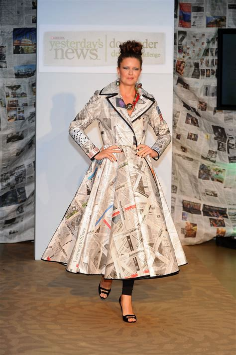 fashion shopping style newspaper dresses newspaper