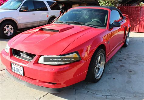 2001 ford mustang horsepower 2001 ford mustang gt convertible performance