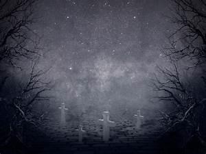 Creepy Night Horror Graveyard Background Free (Misc ...