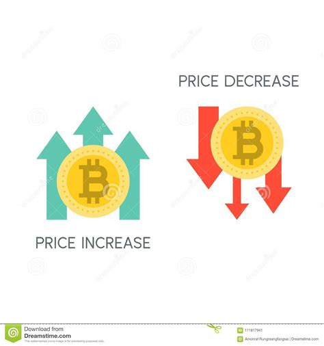 Bitcoin trading volume can be massive on the larger exchanges, such as the ones above, but much. Bitcoin Price Increase And Decrease Stock Vector ...