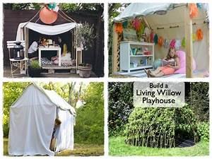 Cabane Enfant Tissu : construire une cabane pour les enfants la cour des petits ~ Teatrodelosmanantiales.com Idées de Décoration