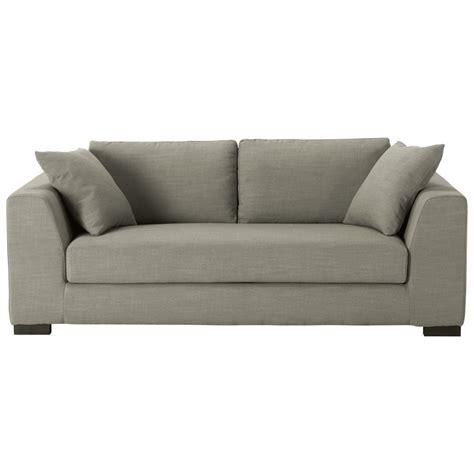 canapé gris 3 places canapé 2 3 places en tissu gris terence maisons du monde