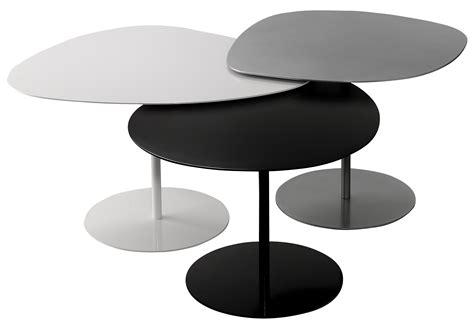 bureau pa cher tables gigognes 3 galets set de 3 noir blanc gris