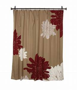 Red And Brown Shower Curtains Curtain Menzilperde Net