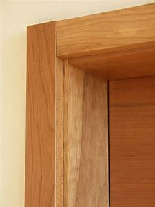 Apartments: Charming Natural Wood Casing Door Style Design
