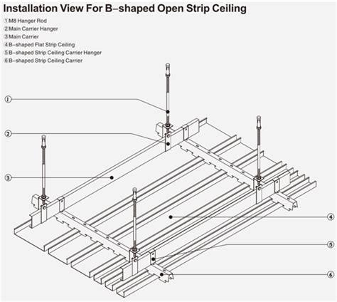 perforated aluminium strip ceiling dustproof    feet false ceiling panel  office