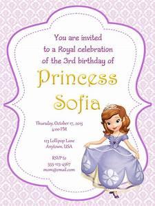 I make i share august 2013 for Sofia the first free invitation templates