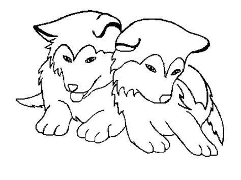 Realistic Husky Coloring Pages