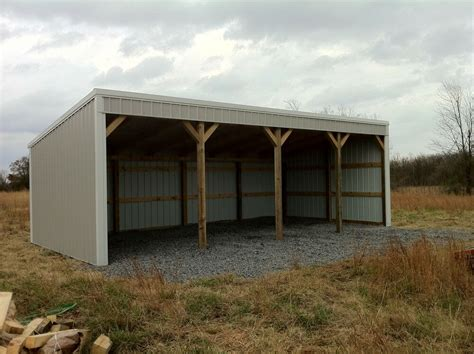 how to build pole shed pole barn 12x40 loafing shed material list building plans
