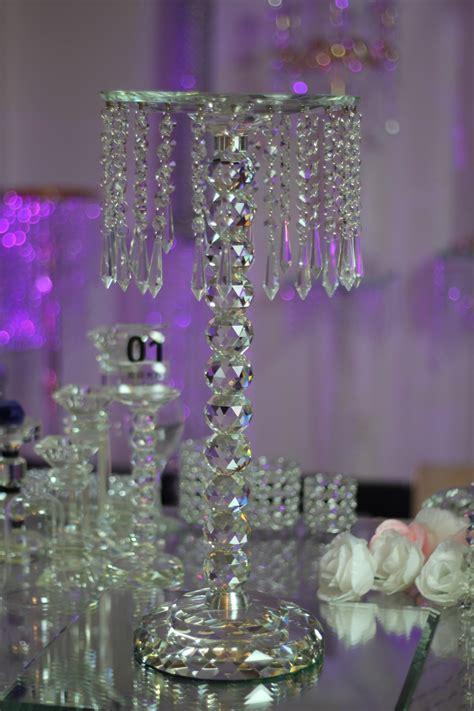 wholesale 2pcs/lot crystal wedding decoration table