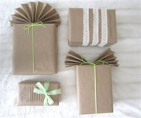 brown paper  gift wrapping ideas crafty  home
