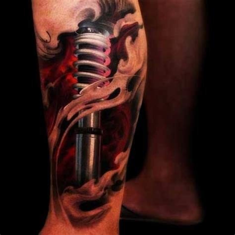 17+ Images About Shock Absorber Tattoo On Pinterest Leg