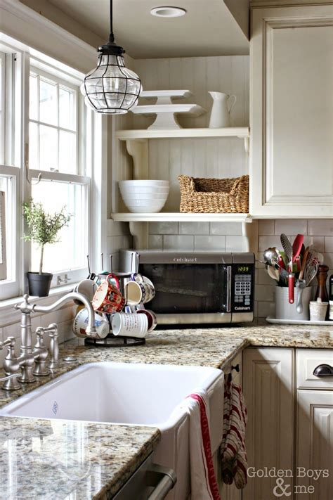 winter s day decor in the kitchen corner