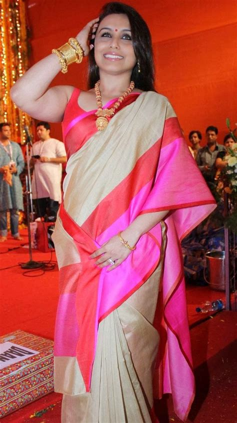 rani mukherjee  star bollywood box office hot saree
