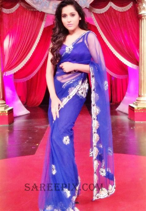 quot antham quot heroine rashmi gautam in blue saree