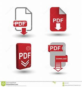 PDF Download Icons Stock Vector - Image: 55972647