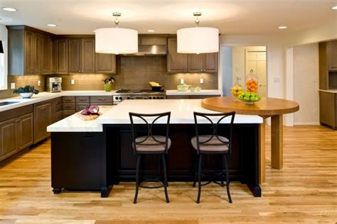 multi level kitchen island kitchen in albany powell construction 3411
