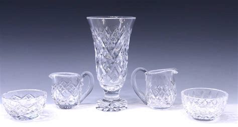 5 Waterford Crystal Table Items Lismore July Mid