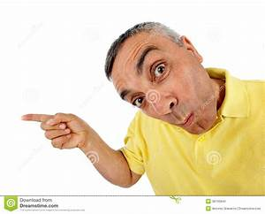 Surprised Man With WOW Expression. Stock Photo - Image of ...