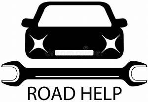 Aide De L Etat Pour Voiture : signe d 39 aide de route avec la voiture et les outils noirs pour la r paration illustration de ~ Medecine-chirurgie-esthetiques.com Avis de Voitures
