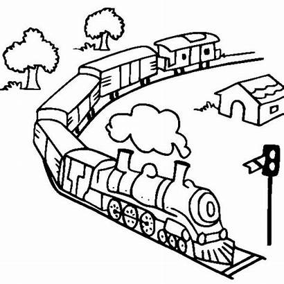 Train Coloring Steam Pages Toy Railroad Trains